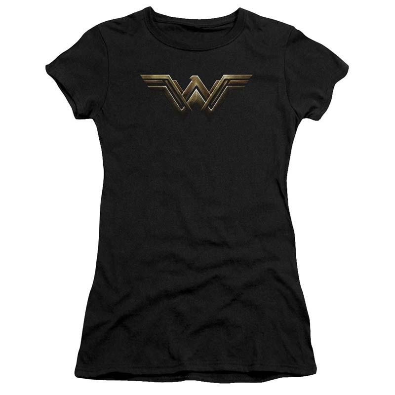 Wonder Woman Justice League Logo Juniors Tee Shirt