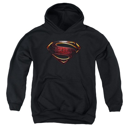 Justice League Superman Logo Youth Hoodie