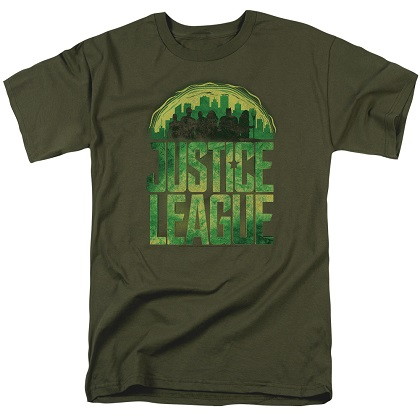 Justice League Kryptonite Logo Tshirt