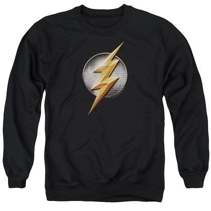 Flash Logo Justice League Crewneck Sweatshirt