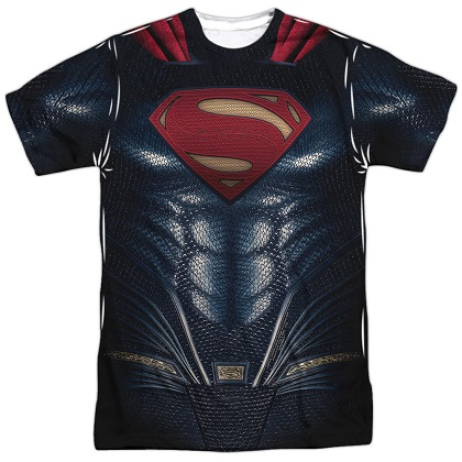 Superman Justice League Front and Back Print Costume Tee