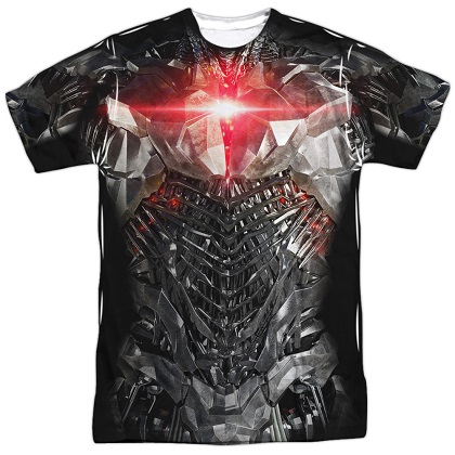 Cyborg Justice League Front and Back Print Costume Tee