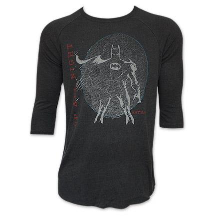 Junk Food Batman Up All Night Black 3/4 Sleeve T-Shirt