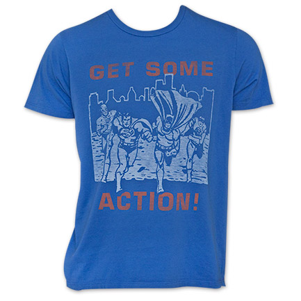 Junk Food Get Some Action Justice League Tee Shirt