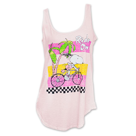Snoopy Junk Food Brand Ride On Women's Tank Top