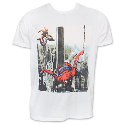 Junk Food Spider-Man Electric White Goblin T-Shirt