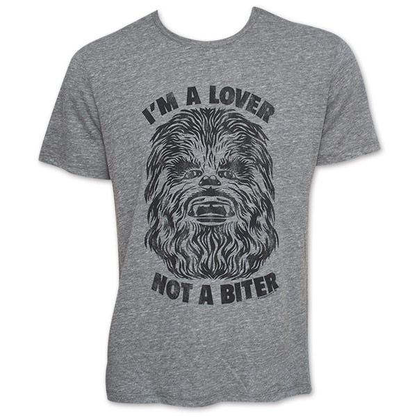 Men S Star Wars Lover Not A Biter Chewbacca Junk Food Tshirt