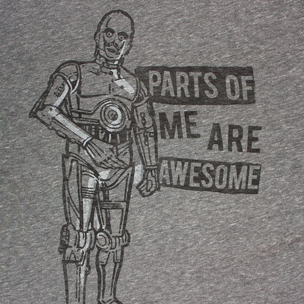 C-3PO Parts Of Me Are Awesome Junk Food Star Wars T-Shirt