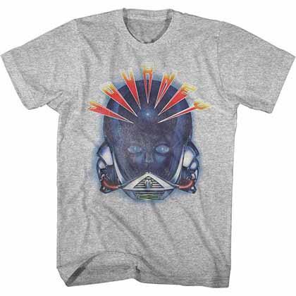 Journey Alien Head Mens Gray T-Shirt