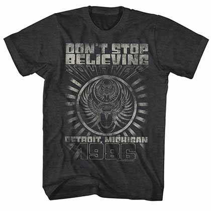 Journey Detroit Mens Black T-Shirt