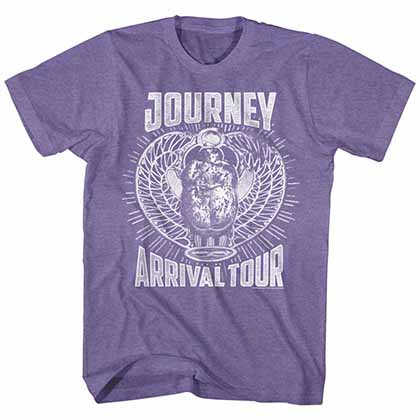 Journey Monochrome Arrival Mens Retro Purple T-Shirt
