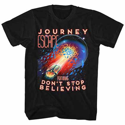 Journey Escape Mens Black T-Shirt