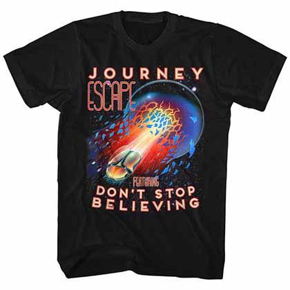 Journey Escape Mens Black T-Shirt