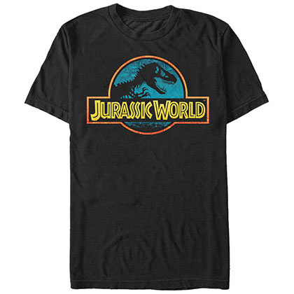 Jurassic Park Colorful Black T-Shirt