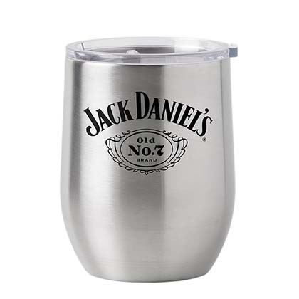 Jack Daniel's 16oz Metal Stainless Steel Tumbler Cup With Lid