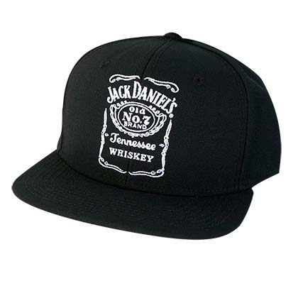 Jack Daniels Black Bottle Label Snapback Hat
