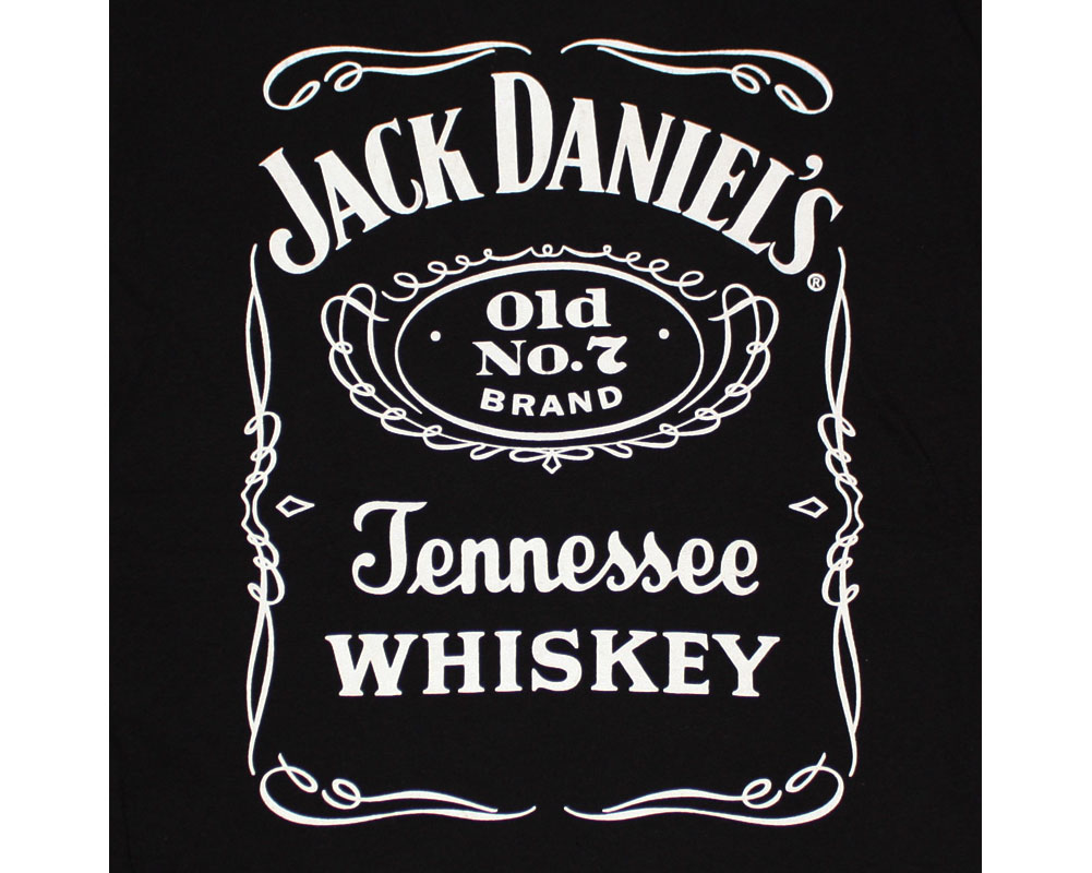 Jack Daniel's Old No. 7 Label Black Men's Tshirt