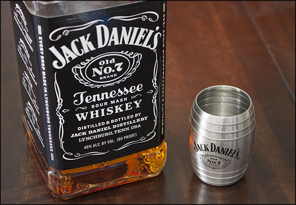 Jack Daniel's Old No. 7 Logo Barrel Shaped Shot Glasses