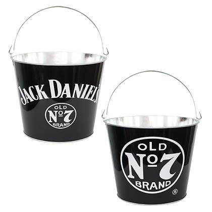 Jack Daniels Logo Black Metal Bucket
