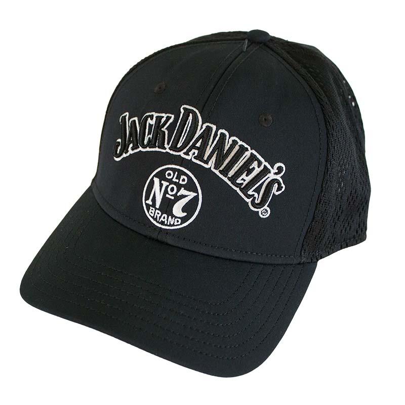 Jack Daniels Black Embroidered Label Hat