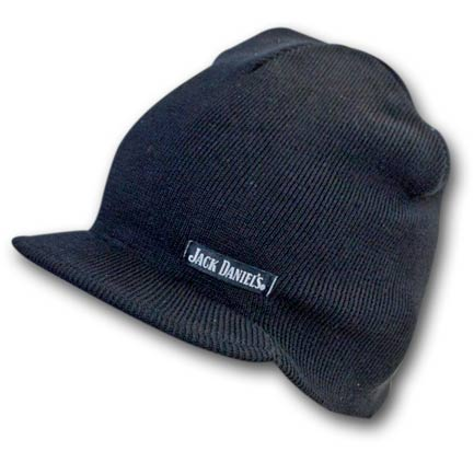 Jack Daniels Knit Winter Brim Beanie Hat
