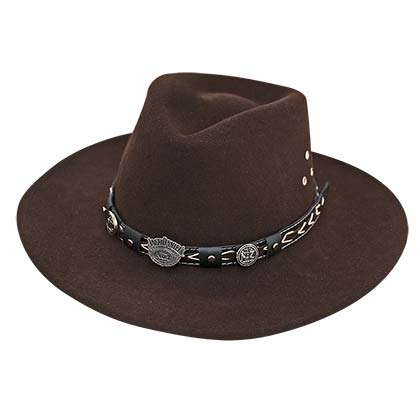 Jack Daniels Soft Wool Brown Water Repellant Hat