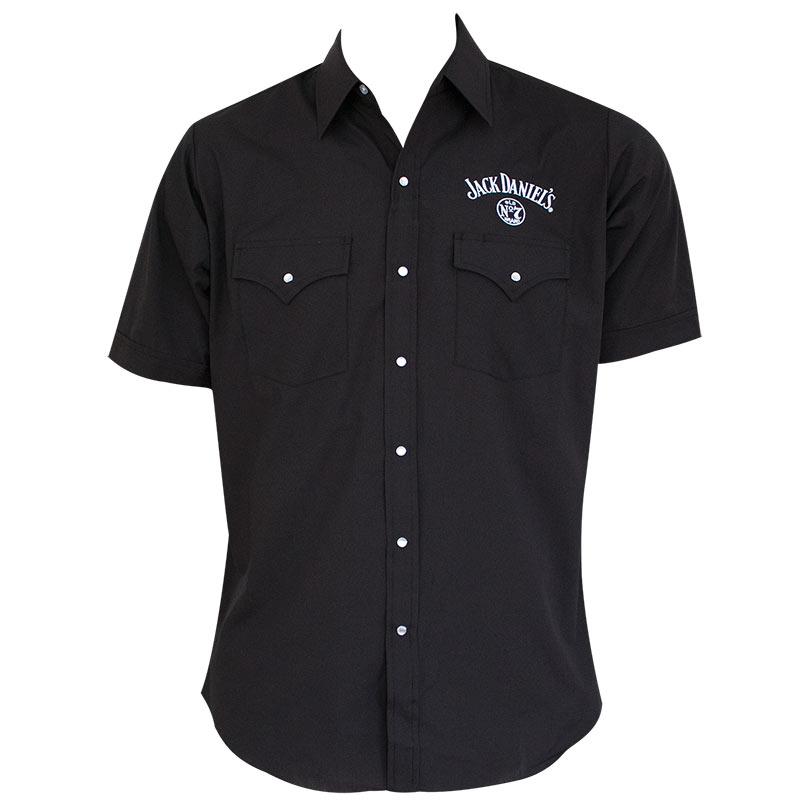 Jack Daniels Men's Black Button Down Shirt