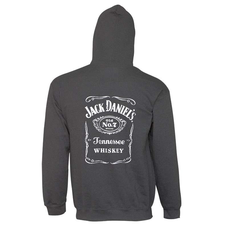 Jack Daniels Bottle Logo Charcoal Men's Hoodie