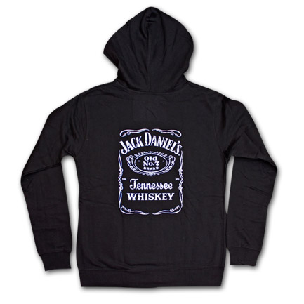 Jack Daniel's Bottle Label Women's Zip Up Hoodie
