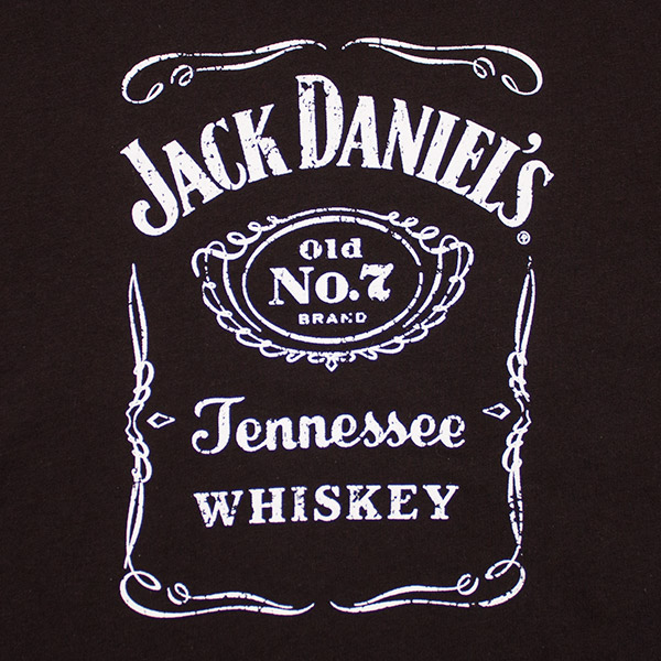 Jack Daniel's Old No. 7 Label Women's V-Neck Tshirt