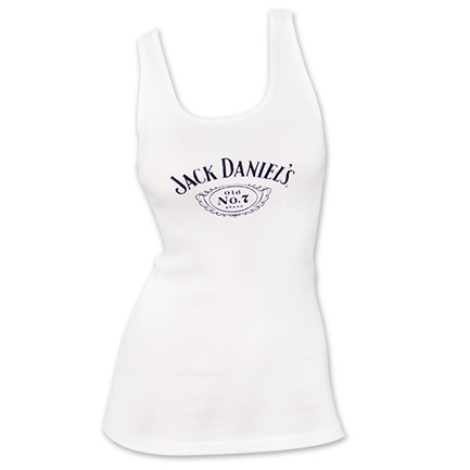 Jack Daniel's No. 7 Women's TTop - White
