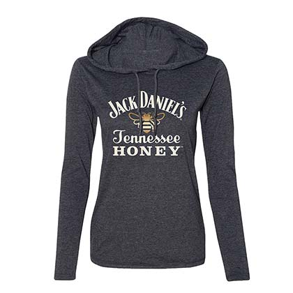 Jack Daniels Women's Tennessee Honey Grey Hoodie