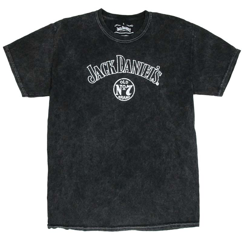 Jack Daniels Men's Black Tie Dye Vintage Wash T-Shirt