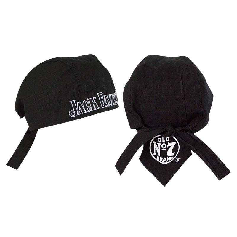 Jack Daniels Embroidered Black Skull Cap