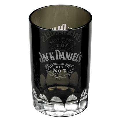 Jack Daniels Black Faceted Shot Glass
