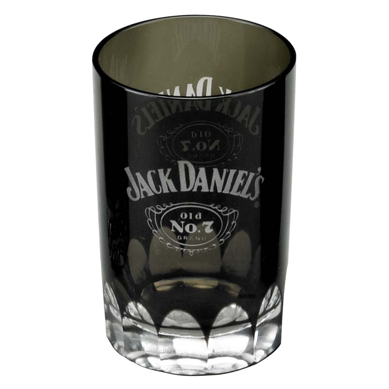 jack daniels old no 7 faceted black shot glass. Black Bedroom Furniture Sets. Home Design Ideas