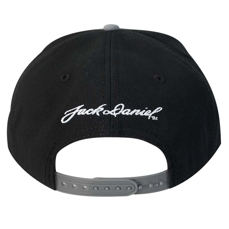 90977743cbc Jack Daniels Flat Brim Black   Grey Snapback Hat