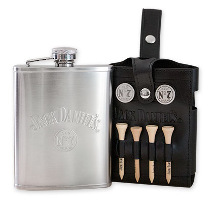 Jack Daniels Golf Set Flask