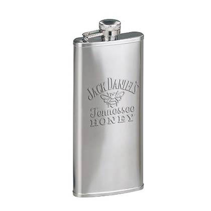 Jack Daniels Silver Etched Tennessee Honey Flask