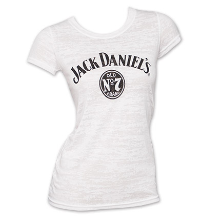 Jack Daniel's No. 7 Label Burnout Women's Tee