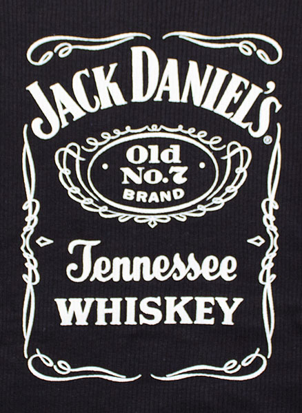 Jack Daniels Old No. 7 Label Women's Ribbed Tank Top