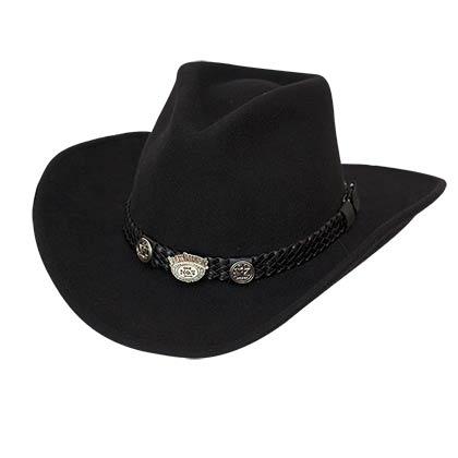 Jack Daniels Black Wool Cowboy Hat