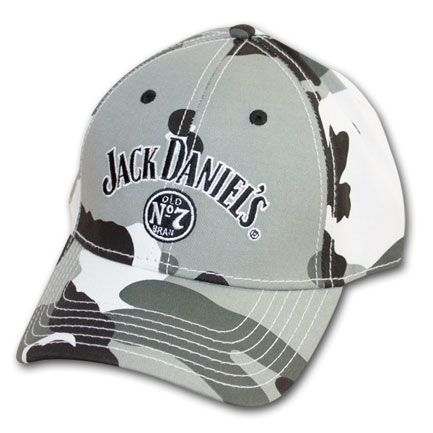 Jack Daniel's Camouflage Gray Adjustable Cap