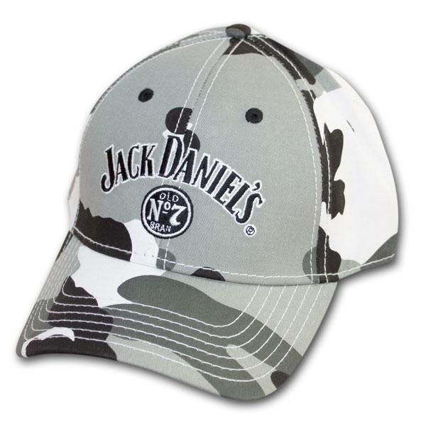 Jack Daniel's Camouflage Gray Adjustable Cap