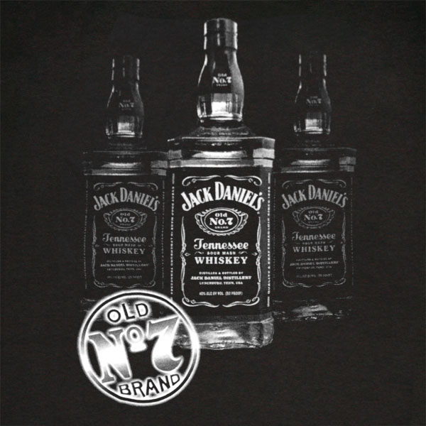 Jack Daniel's Triple Bottle No. 7 Logo Tee
