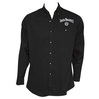 Jack Daniel's Old No. 7 Long Sleeve Men's Black Button Up Shirt