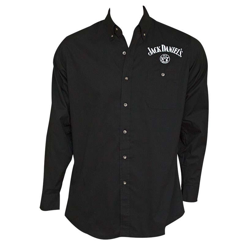 Jack Daniel's Long Sleeve Men's Black Button Up Shirt