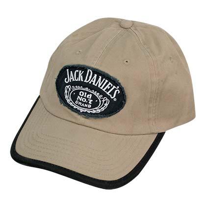 Jack Daniels Black Trimmed Khaki Hat