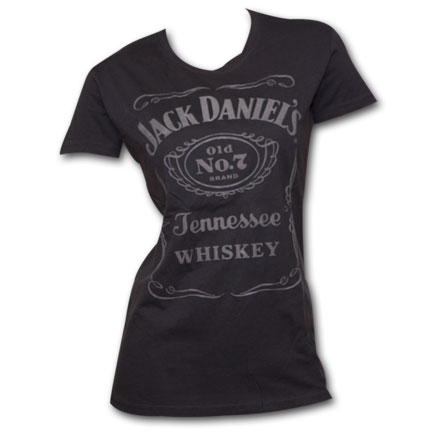 Jack Daniel's Old No. 7 Raised Logo Women's Tee