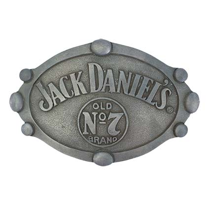 Jack Daniels Riveted Oval Belt Buckle